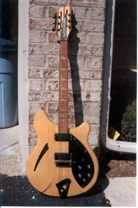 Front view of Rick 360/12 guitar