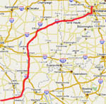 Indianapolis to Sikeston